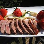 recette Magret de canard et poêlées de fraises au pastis