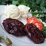 recette Steaks de Hambourg à l'oignon et au vinaigre balsamique