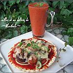 recette Duo de pizza et soupe froide