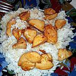 recette Riz et son poulet sauce soja-miel