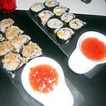 recette Sushis saumon poivron mozzarella