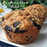 recette Muffins aux bleuets, à la banane et à l'avoine
