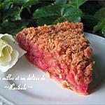 recette Tarte crumble aux framboises et rhubarbe