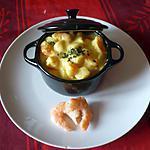 recette Cocotte petoncles/crevettes