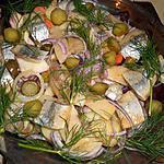 recette Filets de harengs aux pommes et betterave rouge