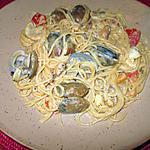 recette spaghetti  aux palourdes