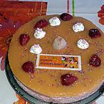 recette bavarois mousse fraise et son miroir exotique