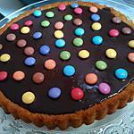 recette Tarte au chocolat et aux smarties