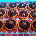 recette Tartelettes au chocolat, noix et nutella