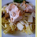 recette Tagliatelles sauce ail et parmesan