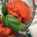 recette SORBET FRAISES/BASILIC