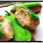 recette éclairs à la crème légère aux  pommes caramélisées