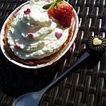 recette Tartelette Fondante au nutella:mascarpone et fraise avec chantilly au mascarpone