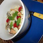 recette salade  de coquillettes  aux fruits de mer  sur une idée de josette baysse