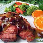 recette Côtelettes de porc au cari rouge, sauce à l'orange