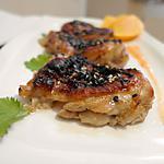recette Laqué de poulet à l'orange