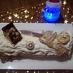 recette Buche vanille chocolat et caramel