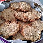 recette Biscuits croquants muesli-sirop erable