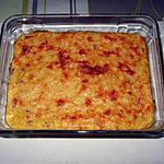 recette Gratin au maïs (en boîte), et aux dés de jambon