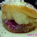 **Adorables  Mignardises Framboises façon cheese-cake & coulis caramel au beurre salé**