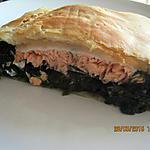 recette Feuilleté au épinards & saumon