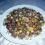 recette poêlée gesiers/lardons/ps de terre/ champignons