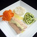 recette Pavé de saumon et ses tagliatelles de légumes accompagné d'une sauce hollandaise