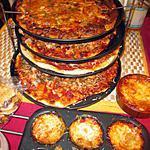 recette pizzas ,  garnitures  différentes