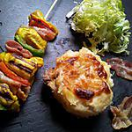 recette Brochettes de dinde marinés à la marocaine et lard