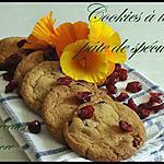 recette cookies à la pâte de spéculoos et cramberry
