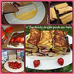 recette Sandwich de pain perdu aux fruits et chocolat croustillant