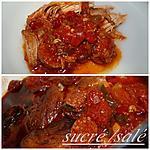 recette Rouelle de porc aux poivrons et chorizo