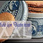 """recette **Gros Biscuits sablés façon """"digestive biscuits"""" au caramel de rhubarbe version XXL **"""