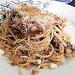 recette Spaghettis a la sardine de Mamie