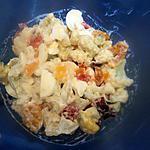recette salade  froide de chou-fleur au oeufs dur