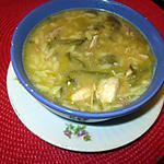 recette potage   carcasse poulet,  céléri,  patate douce,  laitue!!!!