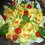 recette Salade d ananas et avocat