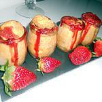 recette Tarte aux fraise dans pots
