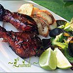 recette Pilons de poulet miel, lime et romarin