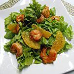 recette Salade de crevettes-laitue-orange