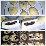 recette Chocolats blancs maison coeur noix de coco et chocolat noir