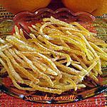 recette Lanières d'écorces d'oranges confites