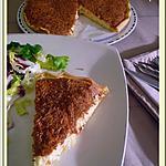 recette Tarte soufflée au crabe et au fromage...