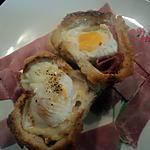 recette nid de pâques au jambon et fromage ( croque madame revisiter )
