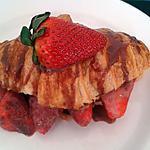 recette Croissant aux fraises et chocolat kinder