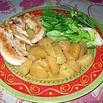 recette Aiguillettes de poulet aux dés de pomme