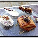 recette crousti-figues pralin et sa glace au yaourt grec