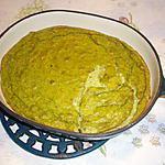 recette Flan de brocolis,roquefort,bacon et tomate confite