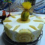 recette Gâteau de Paques (chocolat blanc-ananas-passion)