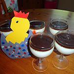 recette PANNA COTTA au lait de coco  et ganache au chocolat